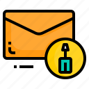 email, envelope, letter, message, tool icon