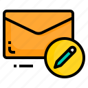 email, envelope, letter, message, write icon