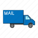 car, delivery, logistics, mail, service, transport icon