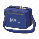 bag, equipment, mail, postman