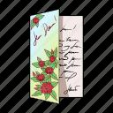 anniversary, congratulations, correspondence, invitation, mail, postcard, wedding icon