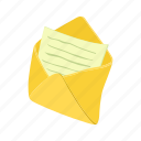 cartoon, envelope, letter, mail, message, notepad, sheet icon