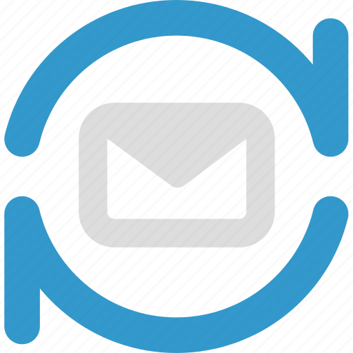 email, imap, mail, message, pop3, sync icon