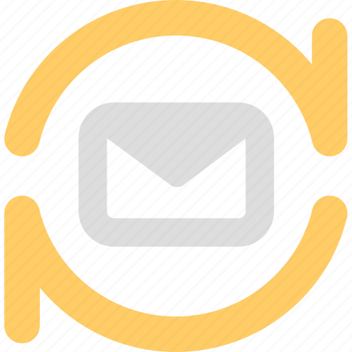 contact, email, imap, letter, pop3, subscription, support, sync icon