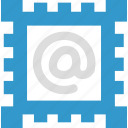 email, letter, mail, postage stamp icon