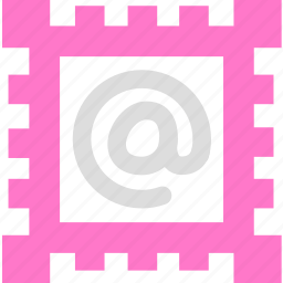 email, letter, mail, message, postage stamp icon