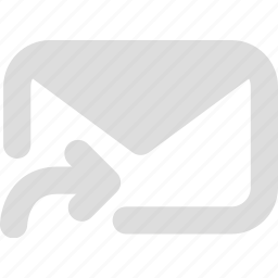 email, forward, letter, mail, message icon