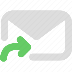 forward email, letter, mail, message icon