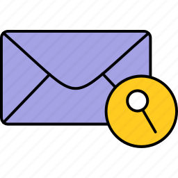 email, envelope, inbox, letter, mail, message, search icon