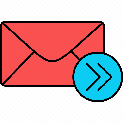 email, envelope, forward, inbox, letter, mail, message icon