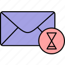 email, envelope, inbox, letter, loading, mail, message icon