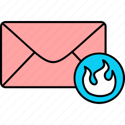 email, envelope, firewall, inbox, letter, mail, message icon