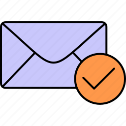 accepted, email, envelope, inbox, letter, mail, message icon