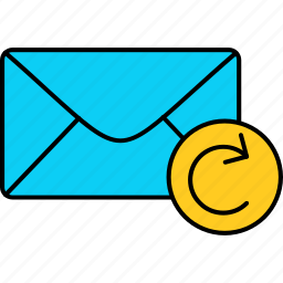 email, envelope, letter, mail, message, refresh, sent icon