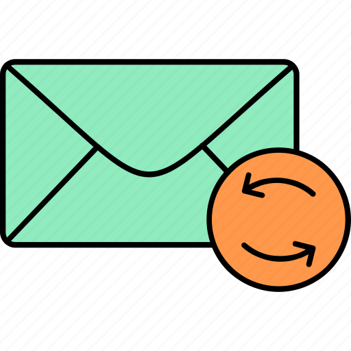 email, envelope, inbox, letter, mail, message, replied icon