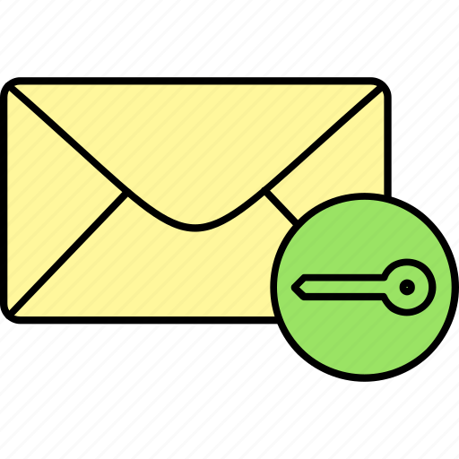 email, envelope, inbox, letter, locked, mail, message icon