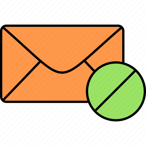 block, email, envelope, inbox, junk, letter, message icon