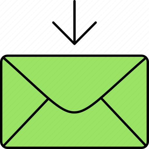 email, envelope, inbox, incoming mail, letter, mail, message icon
