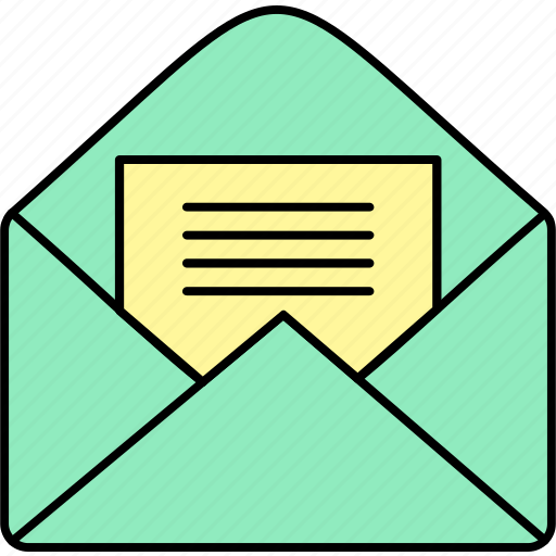 email, envelope, inbox, letter, mail, message, open icon