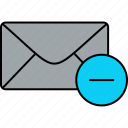 delete, email, envelope, inbox, letter, mail, message icon