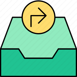 archive, email, inbox, letter, mail, message, send icon