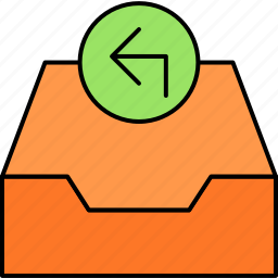 archive, email, inbox, letter, mail, message, reply icon