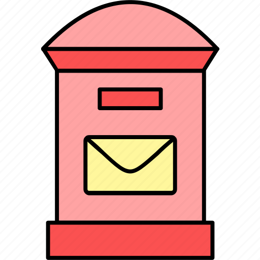 box, letter, letter box, message, post, postbox, send icon