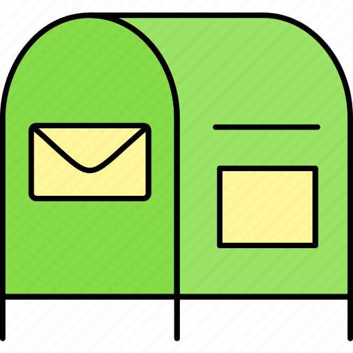 box, letter, letter box, mail, mailbox, message, postbox icon