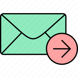 email, envelope, forward, letter, mail, message, unread icon
