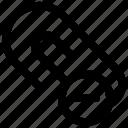 clip, document clip minus, paper clip, paperclip icon icon