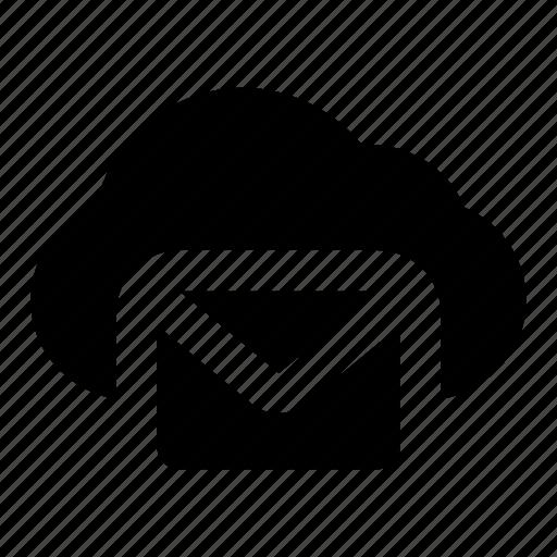 Cloud, email, cloud mail, cloud envelope, cloud email, cloud correspondence, cloud letter icon - Download on Iconfinder