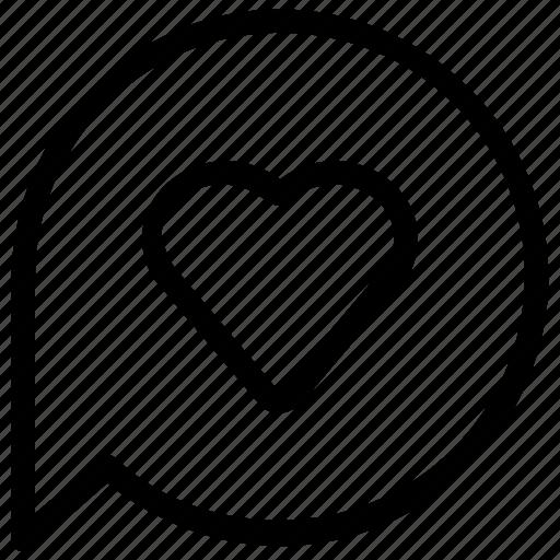 bookmark, favorite, heart, message icon
