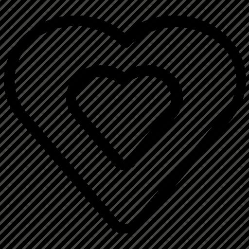 bookmark, favorite, heart icon