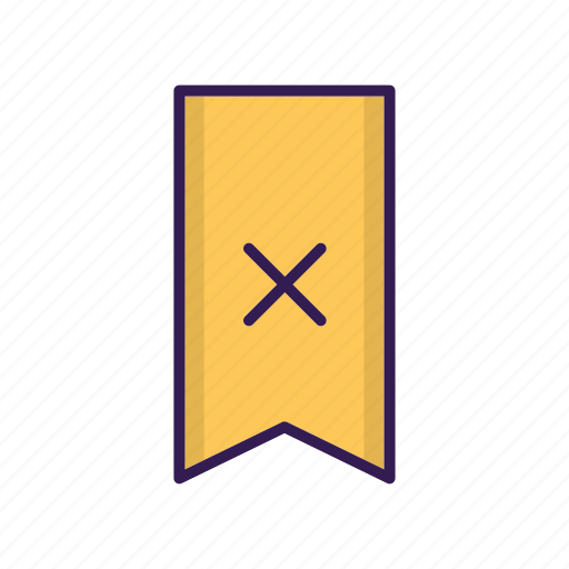 bookmark, delete, favorite, ribbon, vertical icon