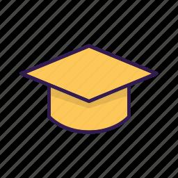 academia, cap, college, education, graduation icon