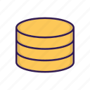 data, database, server, storage