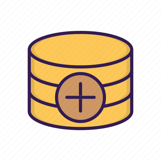 add, create, database, new icon