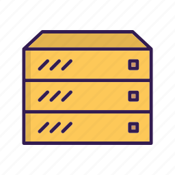 center, data, database, hosting, rack, server icon