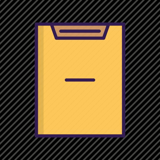 delete document, list, minus sign, remove icon