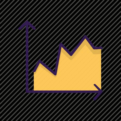 curve, graph icon