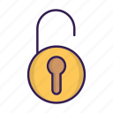 lock, login, safe, security, unlocked icon