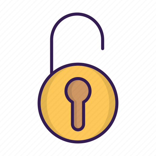 lock, login, safe, security, unlocked icon
