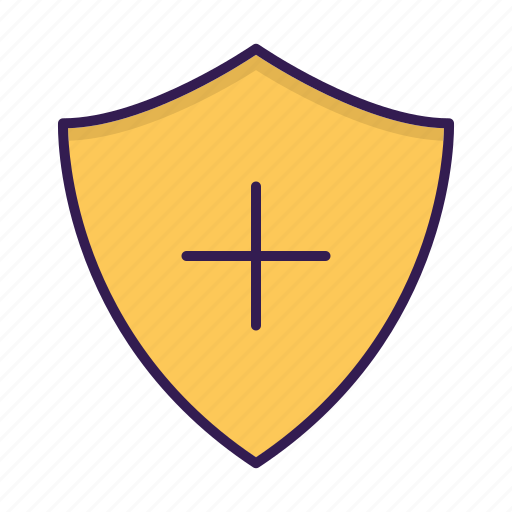 add, protection, security, shield icon