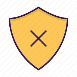 delete, protection, security, shield icon