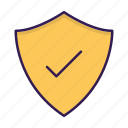 approved, protection, security, shield icon