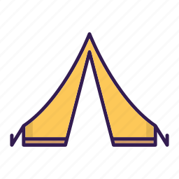 camp, tent icon