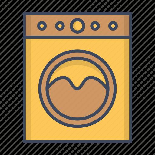 clothes, machine, washer, washing icon