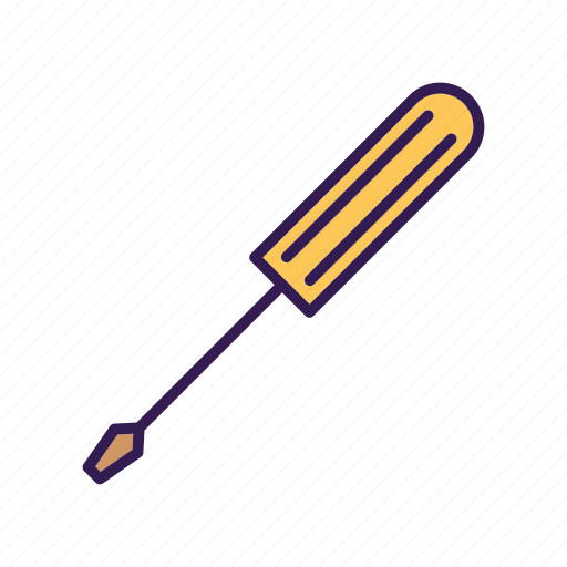 constructor tool, garage tool, screw driver, tool icon