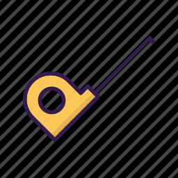 carpentry, measurement, measuring device icon