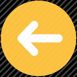 arrow, left, left arrow, left icon icon